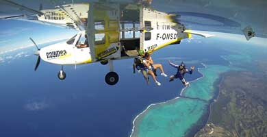 Skydiving in New Caledonia